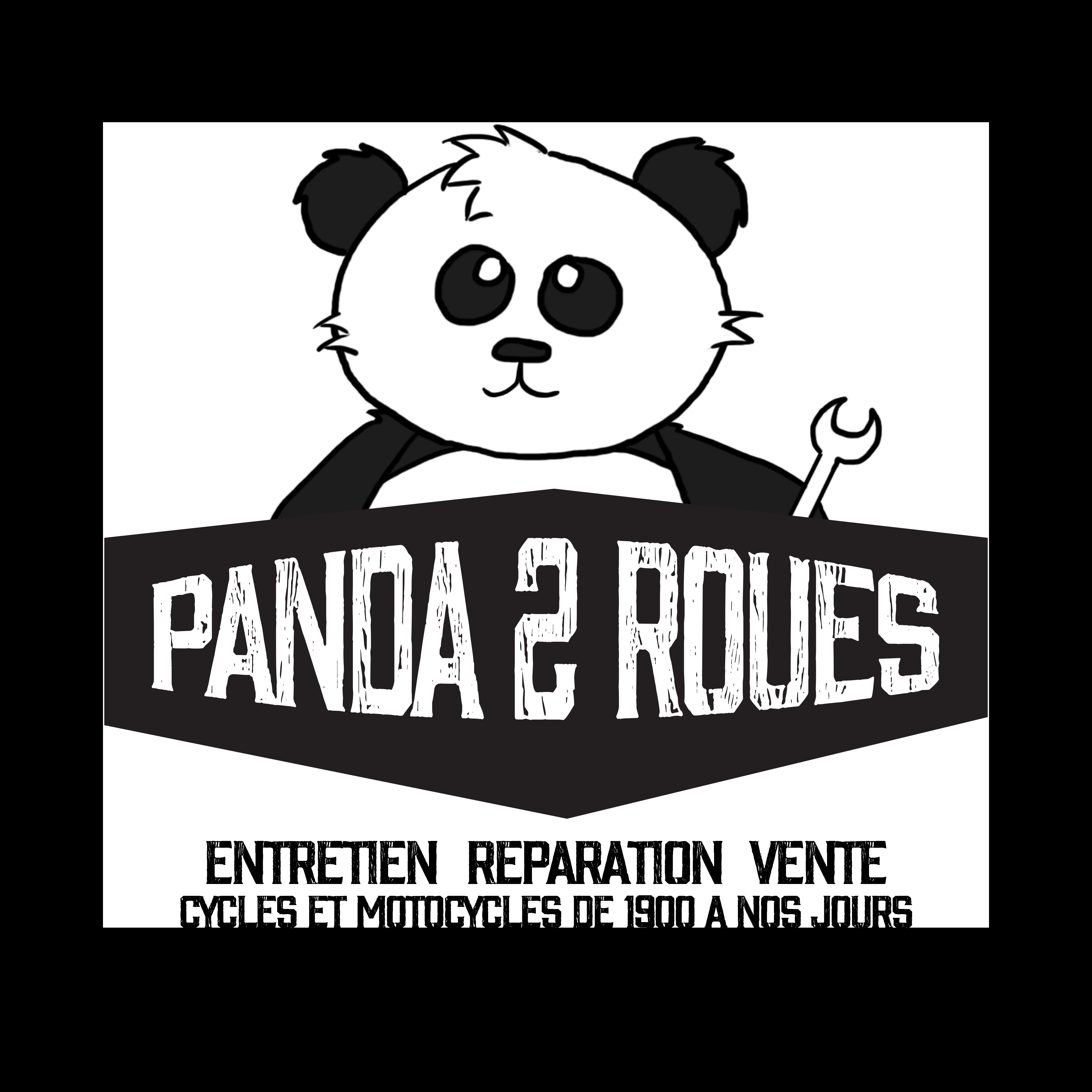 Logo Panda 2 roues